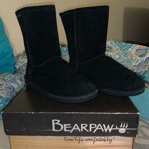 Black bearpaw boots